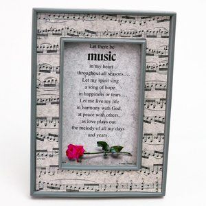 Music in my Heart Frame Plaque